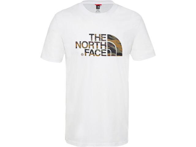 The North Face Easy Camiseta Manga Corta Hombre, tnf white/british khaki tiger camo print